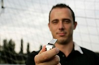 Referee holding a whistle