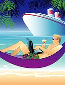 Tropical Laptop Linda Braucht (20th C. American) Computer graphics