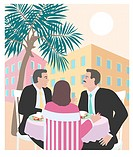 Business Lunch in Tropics 2 Linda Braucht (20th C. American) Computer Graphics