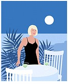 Moonlight Lady Linda Braucht (20th C. American) Computer Graphics