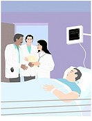 Hospital Patient 4 Linda Braucht (20th C. American) Computer Graphics