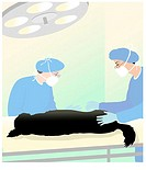 Vet Clinic Surgery Linda Braucht (20th C. American) Computer Graphics