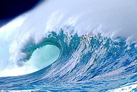 Close-up of waves in Waimea Bay, Hawaii, USA