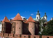 Barbican, Fortress Walls, Old Town, Warsaw, Poland