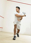 Male squash player