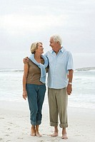 Senior couple standing on a beach