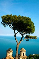View of the Amalfi Coastline from Villa Rufolo. Ravello. Amalfi Coast. Campania. Italy