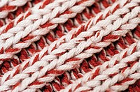 Close-up of cable stitch