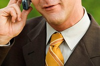 Close-up of a mature man talking on a mobile phone