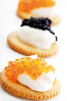 Caviar appetizer, close-up