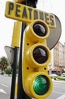 Green light for pedestrians. Zaragoza. Spain
