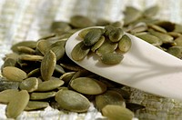 Pumpkin seeds, close-up