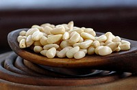 Pine nuts, close-up