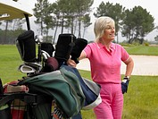Senior woman golfer