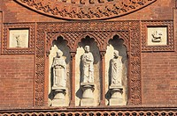 italy, lombardia, milan, sculptures of saint marco church