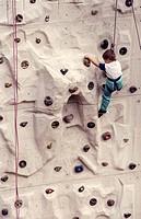 free climbing, child
