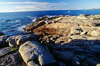 Punta da Barca cliffs, Muxia, Costa da Morte. La Coruña province, Galicia, Spain