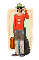 illustration images of active young people