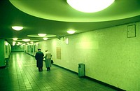 Old Couple leaving Underground Station, Kurfürstendamm, Berlin, Germany