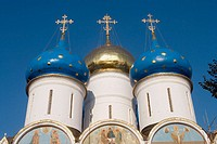 Assumption Cathedral (1559-1585), Holy Trinity-St. Sergius Lavra (monastery), Sergiyev Posad. Golden Ring, Russia