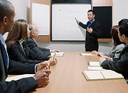 Businessman making a presentation during a meeting