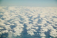 Cloud formation over land, aerial view