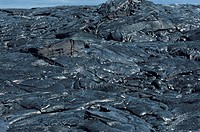 Patterns in Pahoehoe lava, Hawaii, HI, USA