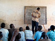 Children attend a classroom at GUSCO -- the Gulu Save the Children Organization.The children are recent escapess from the Lord's Resistance Army rebel...