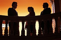 Lawyers, business persons' silhouettes