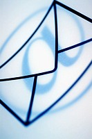 Close-up of an 'at' symbol on an envelope symbol (thumbnail)