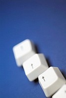 Close-up of arrow keys