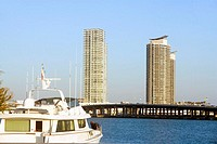 Yacht in the sea, Miami, Florida, USA (thumbnail)