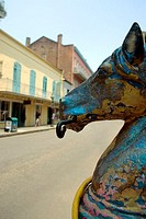 Close-up of a statue on the roadside, New Orleans, Louisiana, USA