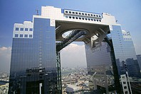 High section view of a building, Umeda Sky Building, Osaka, Japan