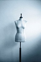 Tailor´s dummy, monochrome blue, soft