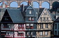 France, Brittany, Typical house in Morlaix
