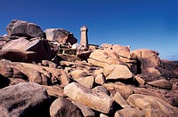 France, Brittany, Ploumanach  ,pink granite coast