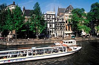 The Netherlands, Amsterdam, river boat