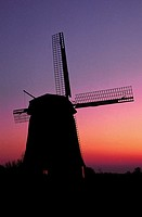The Netherlands, Sunset on mill