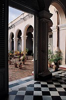 Trinidad, museum of colonial art, patio