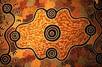 Australia, near Alice Srings, aboriginal pattern in a farm
