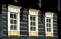Finland, Carelia, Nurmes, Bomba hotel, traditionnal house (thumbnail)