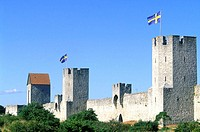 Sweden, Gotland, ramparts of Visby