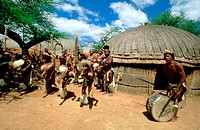 South Africa, Shakaland, Zulu village