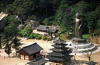 South Korea, temple of Popchusa