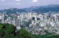 South Korea, Seoul, the city view from mount Namsan