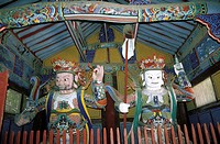 South Korea, Tongdo Sa, guardians of the temple