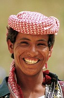 Yemen, Wadi Do'an, young man portrait