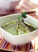 broccoli puree with olive oil (topic : broccolis)
