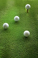 Golf Balls On Turf